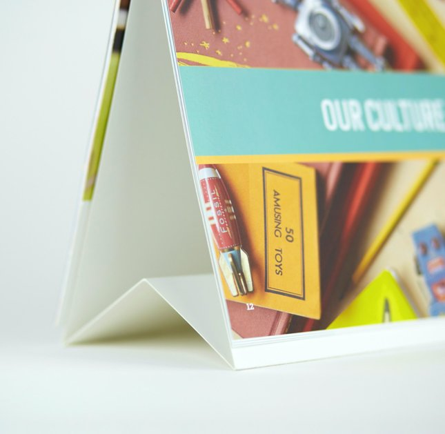 Table tent booklets